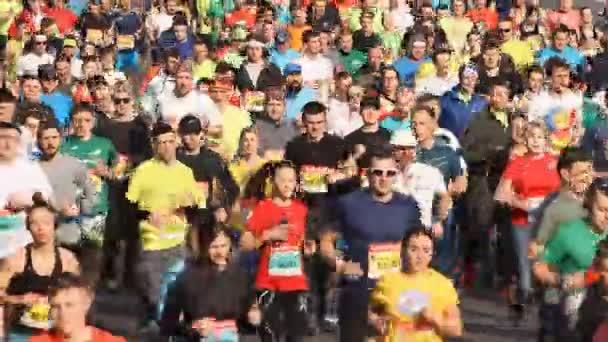 Kyiv, Ukraine - April 07, 2019: Nova poshta half marathon in Kyiv, Ukraine