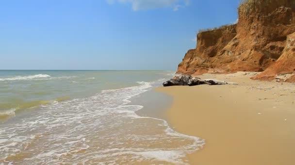 Sea and clay coast in Odessa region, Ukraine