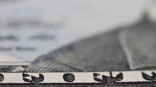 Banknote of fifty dollars with a slider in close-up