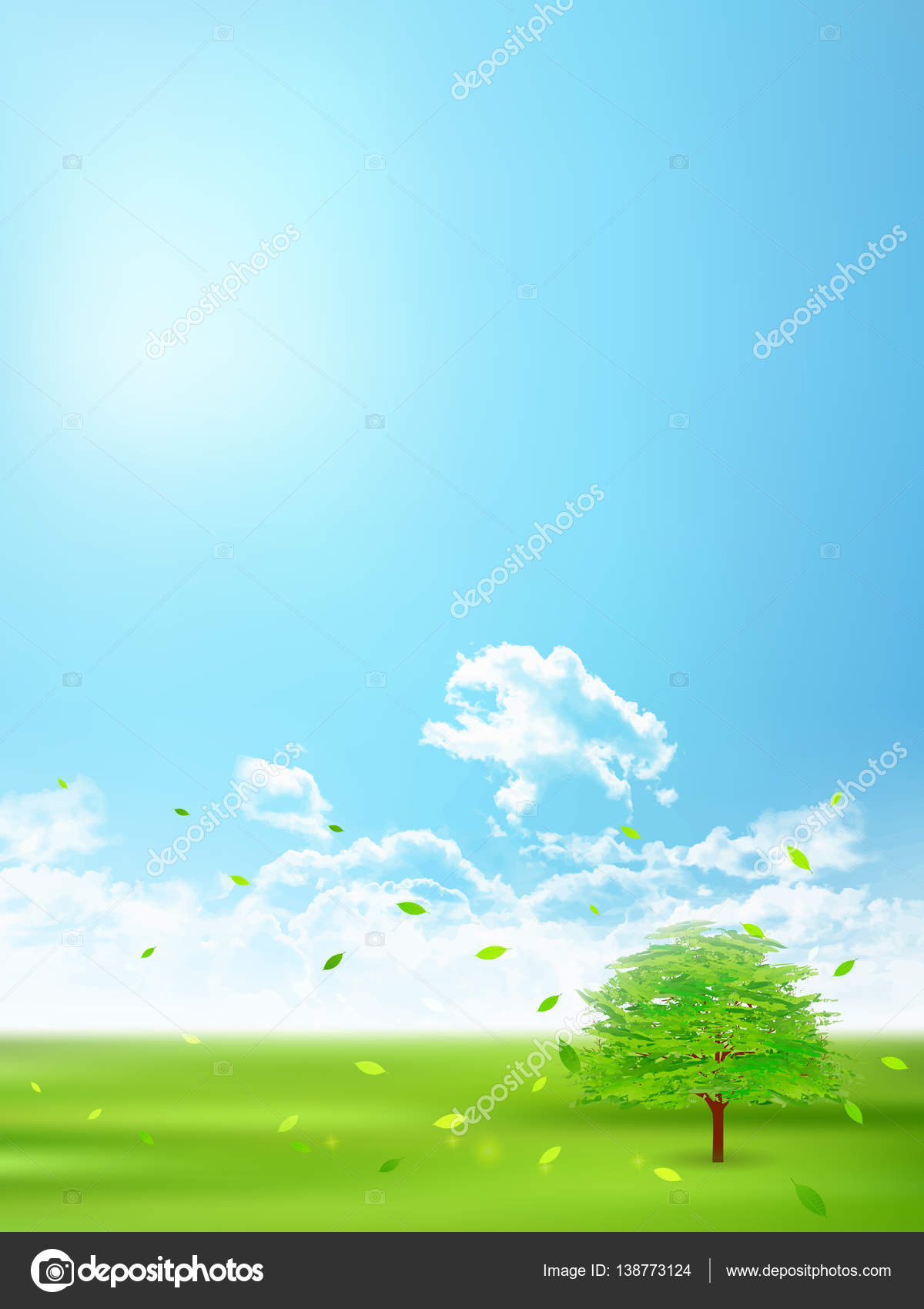 fresh green natural scenery background — stock vector © jboy24