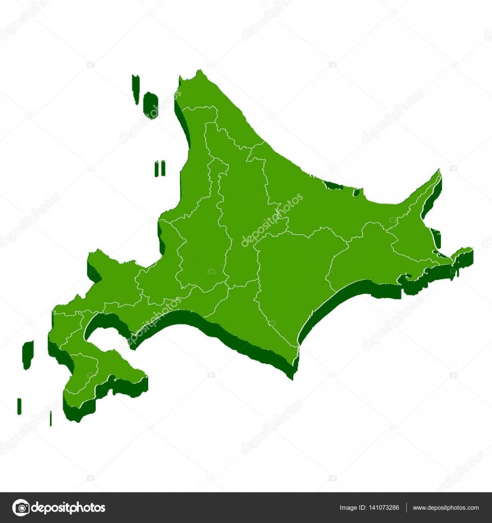 Hokkaido World Map.Hokkaido Map Frame Icon Stock Vector C Jboy24 141073286