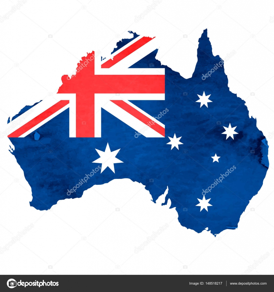 Australia Map Icon.Australia Map National Flag Icon Stock Vector Jboy24
