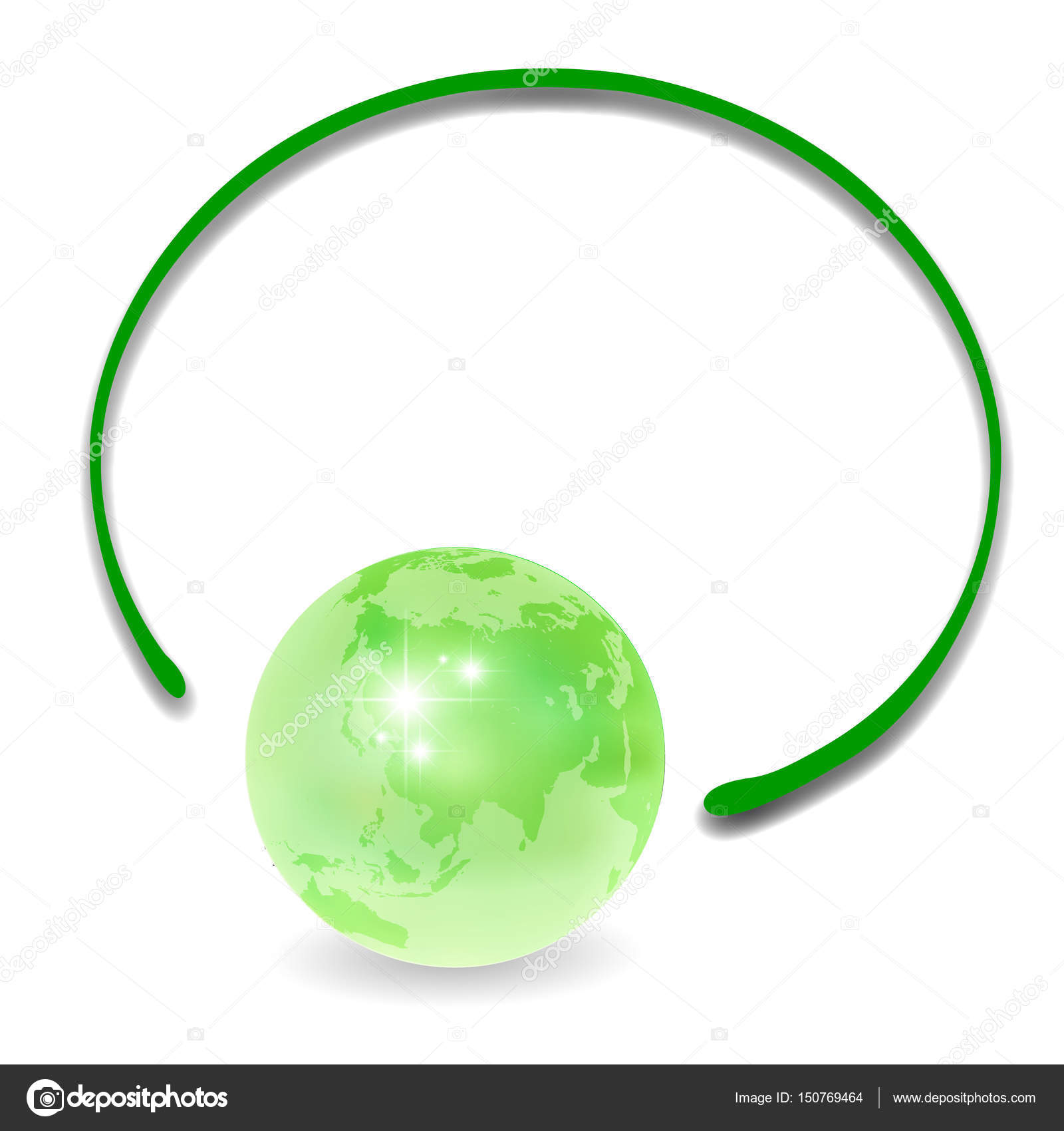 Eco earth frame icon — Stock Vector © JBOY24 #150769464