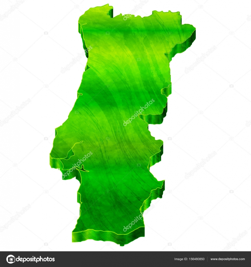 Portugal Map Japanese Paper Icon Stock Vector JBOY - Portugal map icon