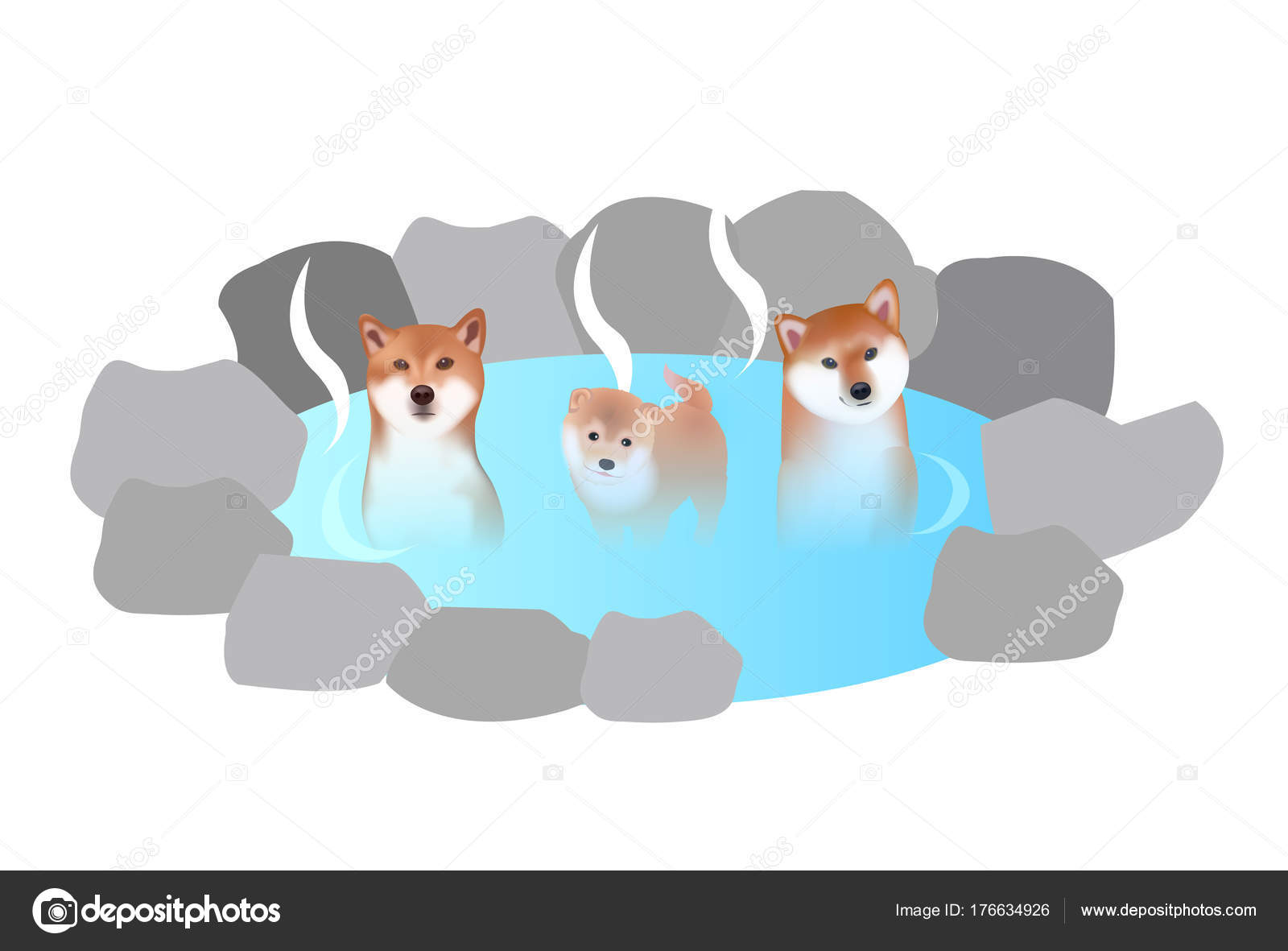 dog new year cards hot spring icon stock vector