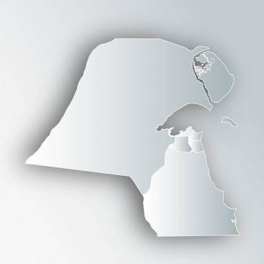 Kuwait Map Frame Icon