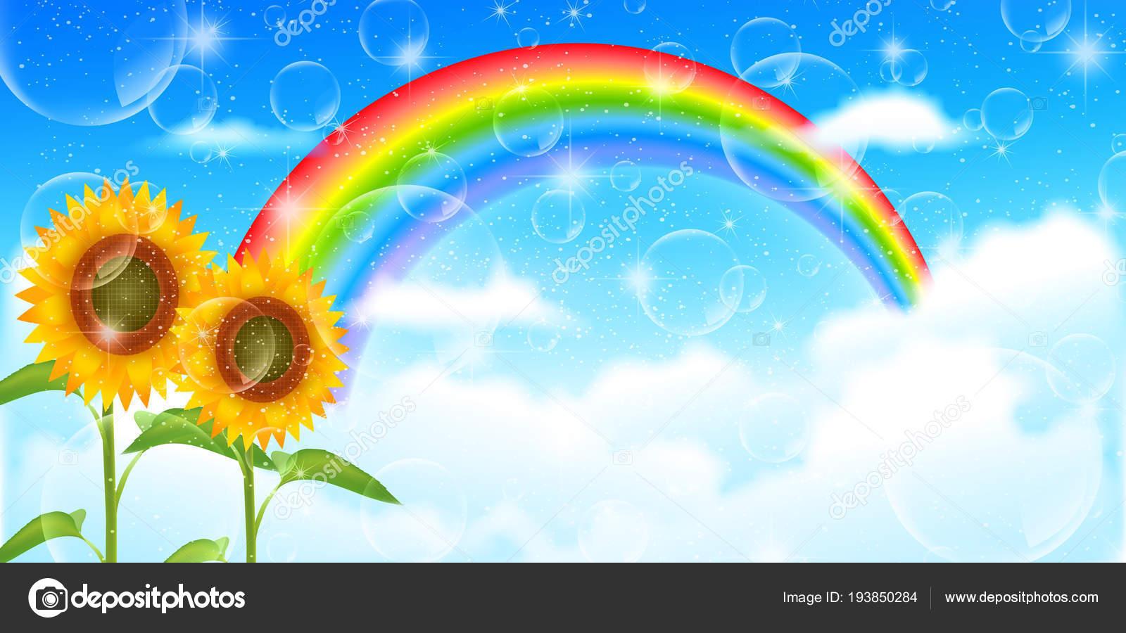 sunflower summer scenery background — stock vector © jboy24 #193850284