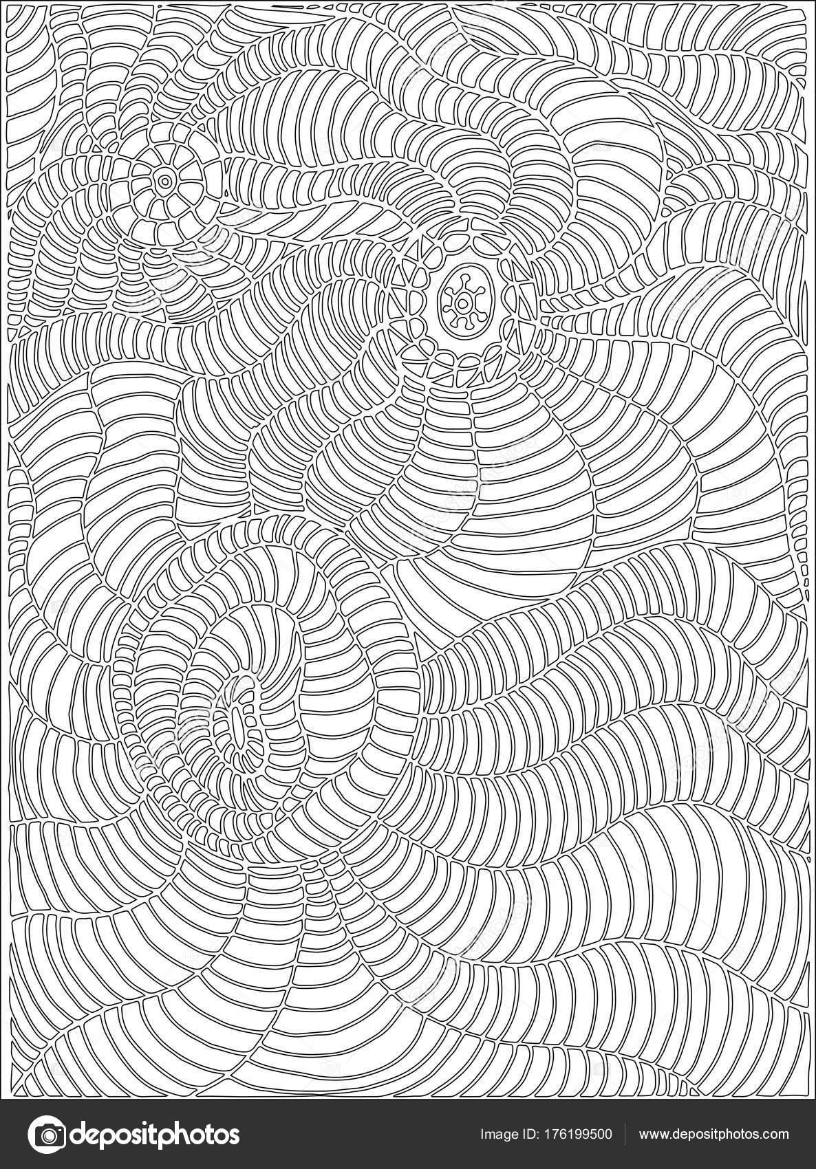 Línea de la página de colorear, doodle estilo arte, para niños y ...