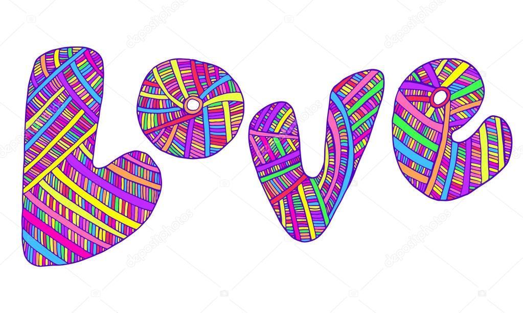 Diseño De La Palabra Love