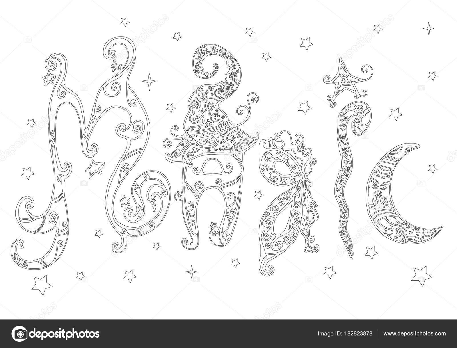 Kleurplaten Arabische Letters.Word Magic Kleurplaat Pagina Voor Kinderen En Volwassenen