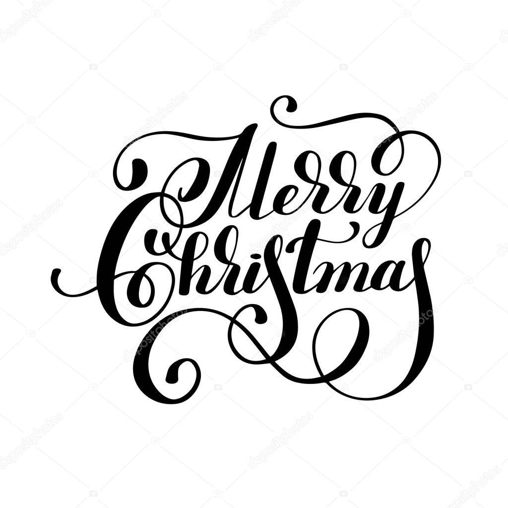 Inscription De Lettrage Noir Et Blanc Main Joyeux Noël
