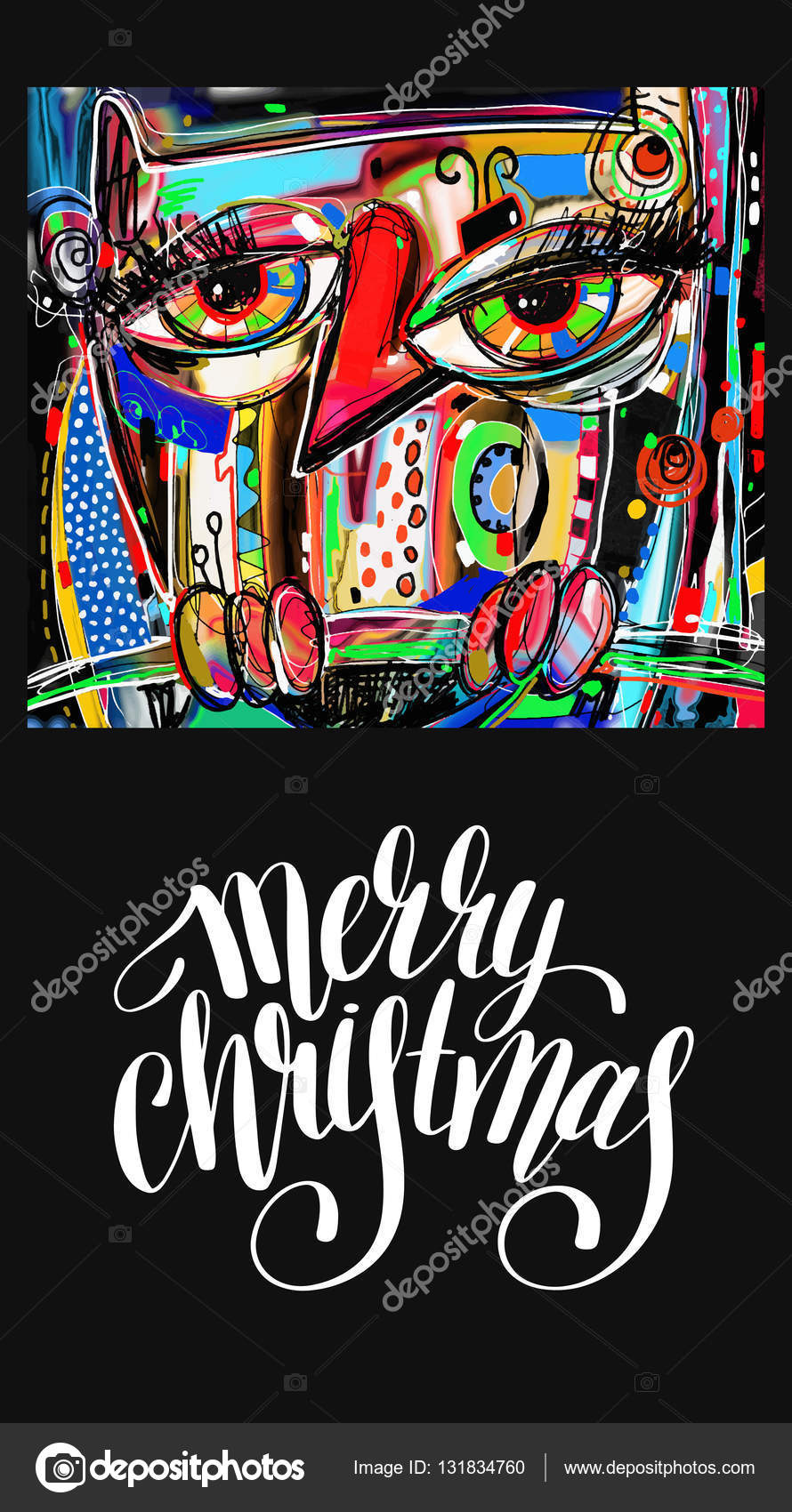digitala gratulationskort Christmas gratulationskort med digital målning konstverk av doodle  digitala gratulationskort