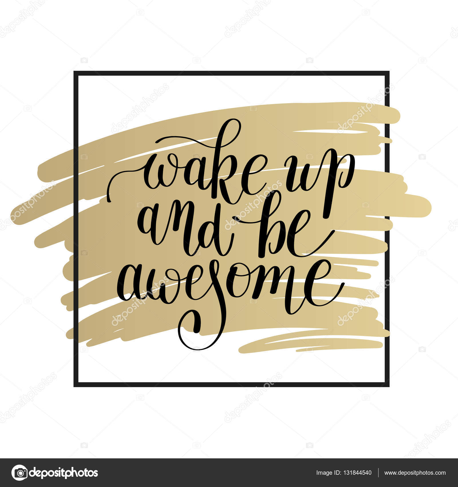 wake up and be awesome black and white lettering positive quote ...