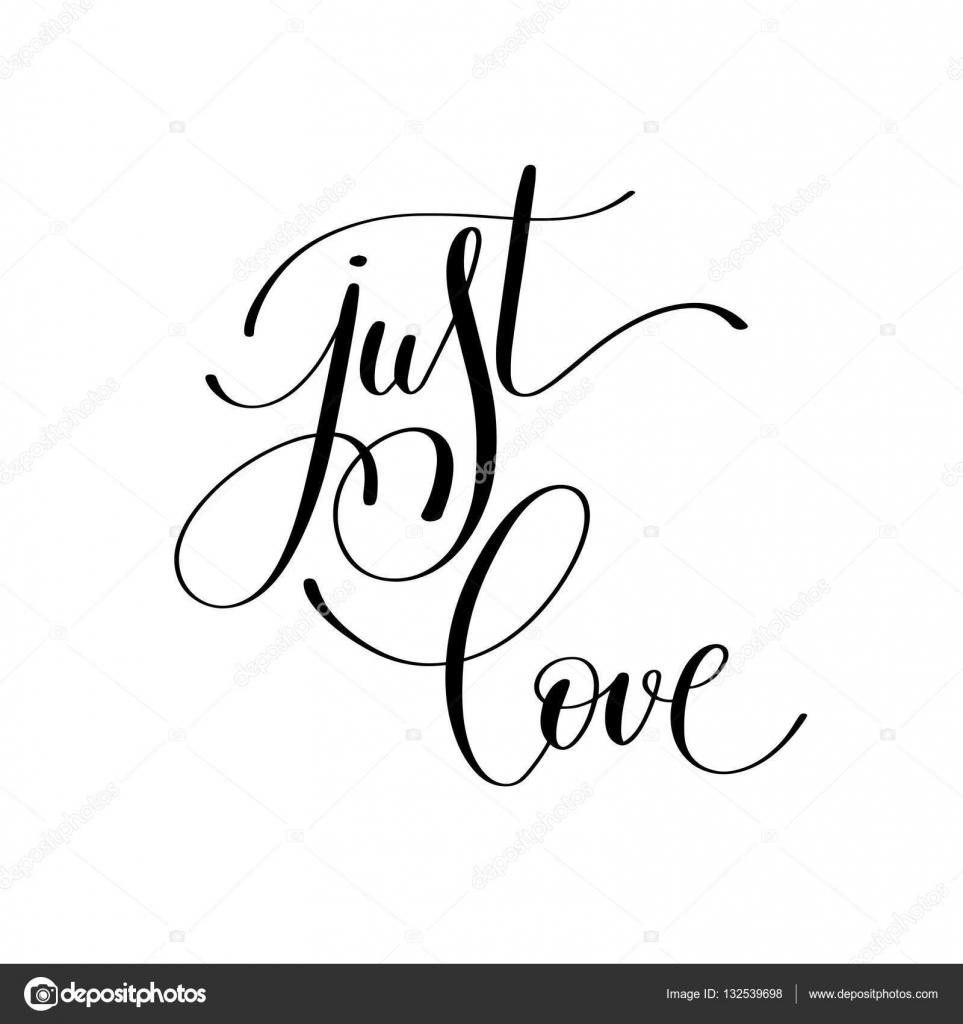 Po Prostu Kocham Odręczny Napis Cytat O Miłości Do D Walentynki