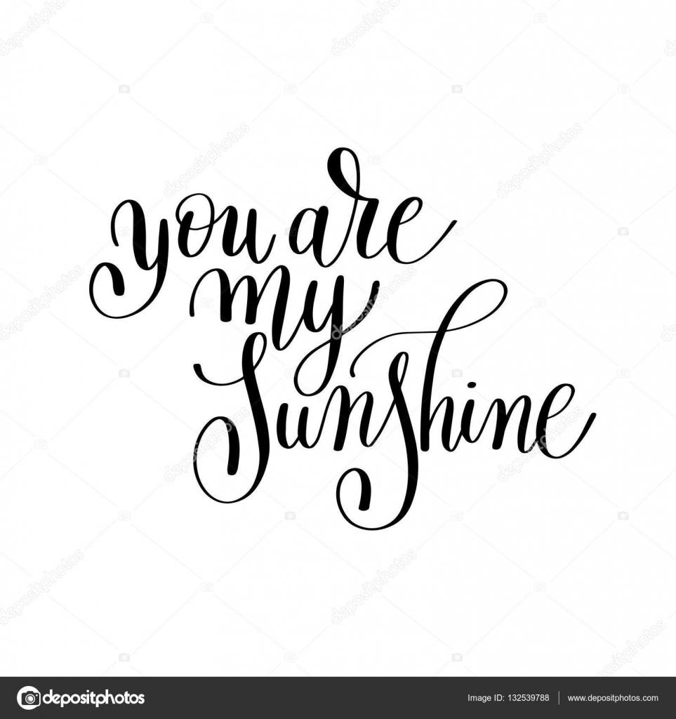 Jesteś Mój Cytat Słońce Odręczny Napis O Miłości Do Va Grafika