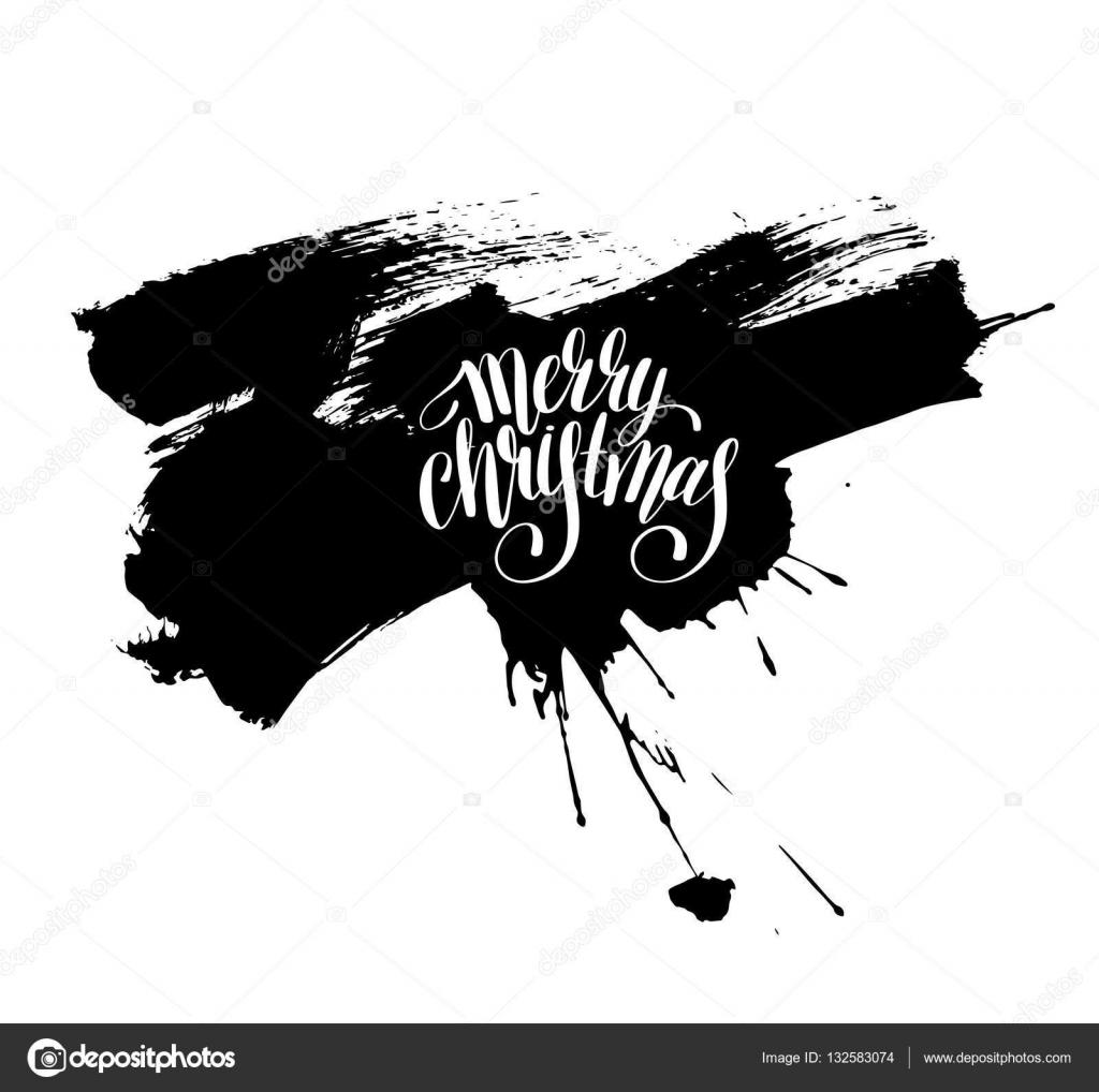 Joyeux Noël Noir Et Blanc Inscription écrite à La Main