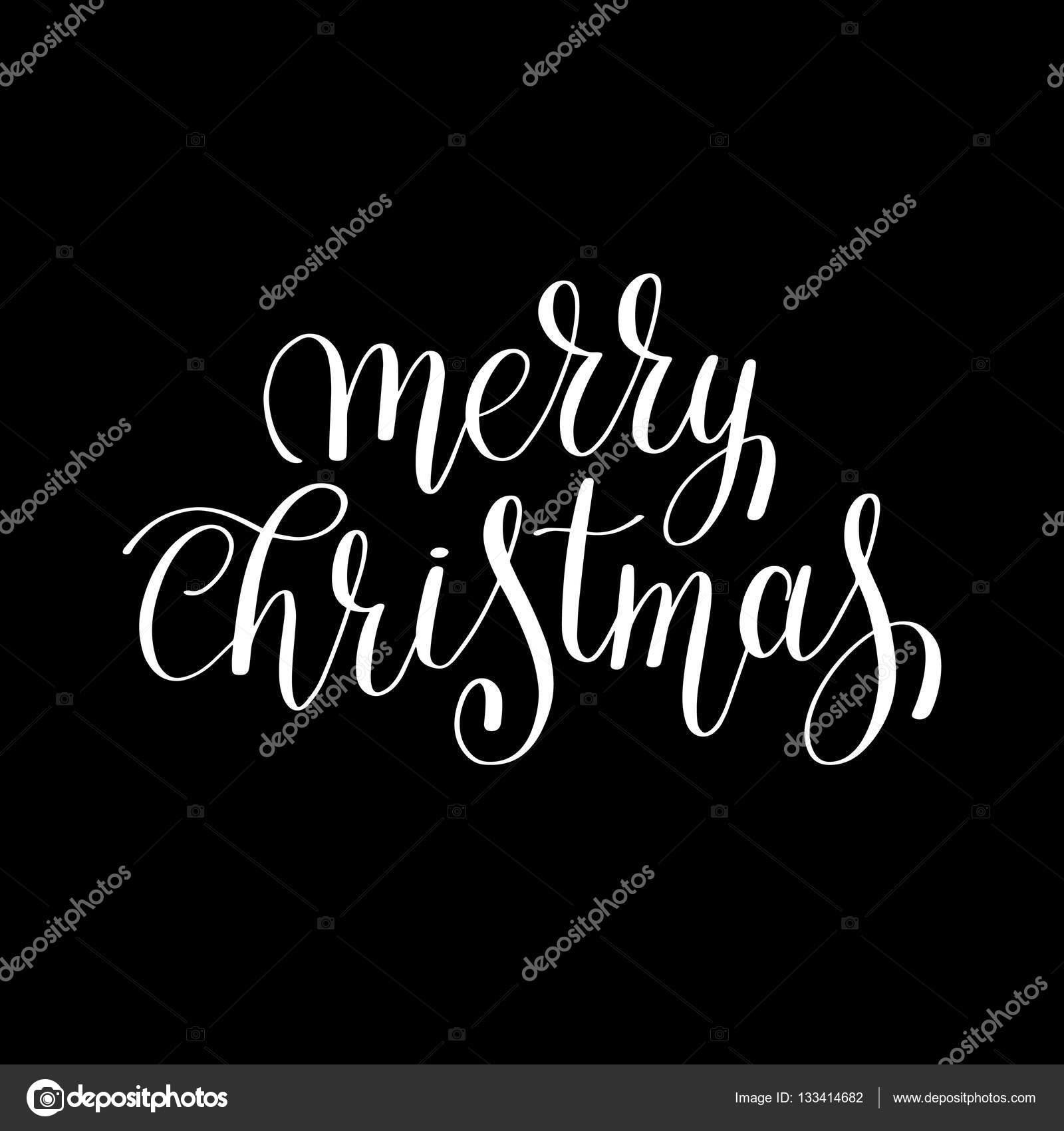 Joyeux Noël Noir Et Blanc Main Lettrage Inscriptio Image