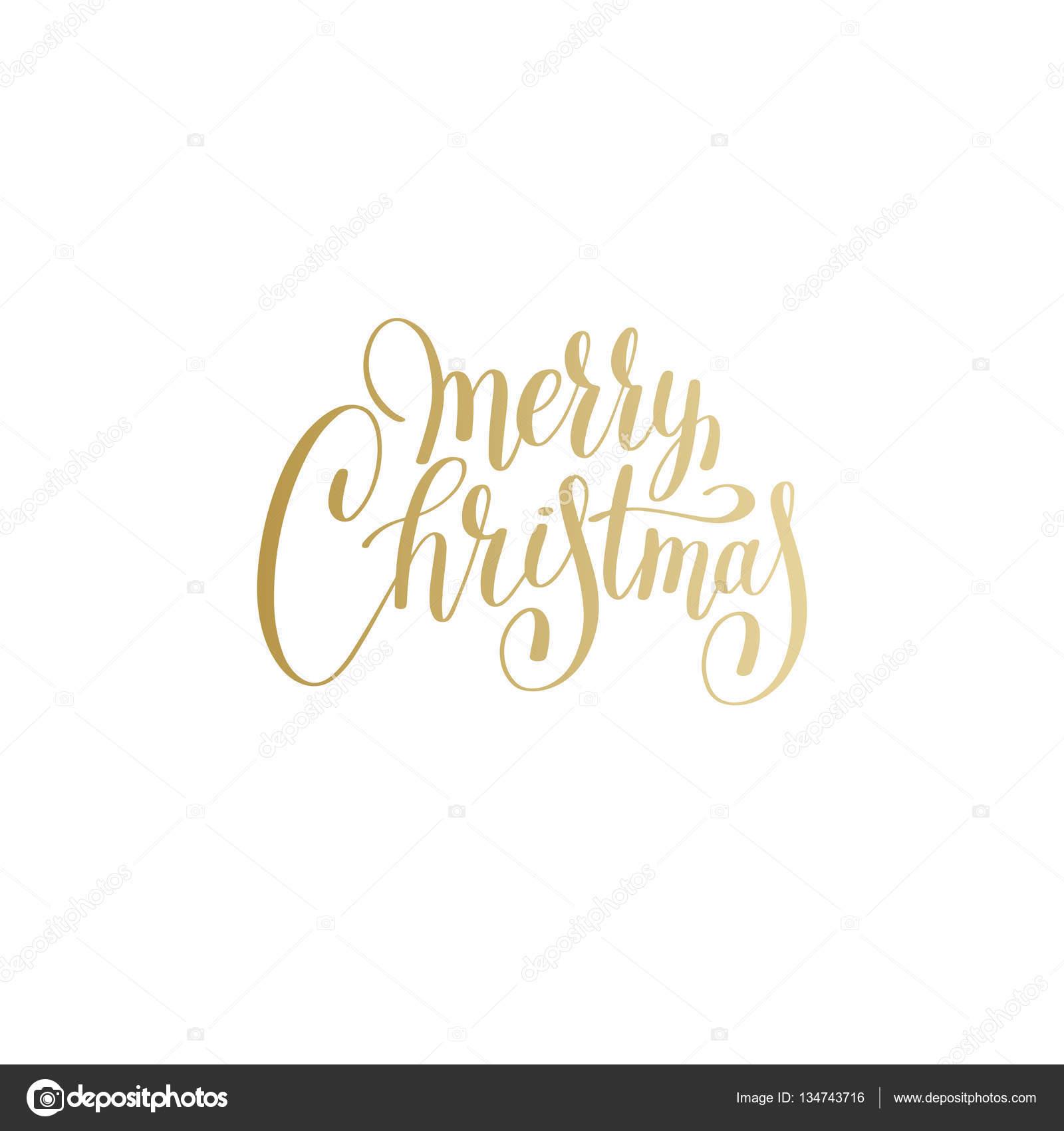 Frohe Weihnachten gold Logo handgeschrieben Schrift Inschrift holi ...