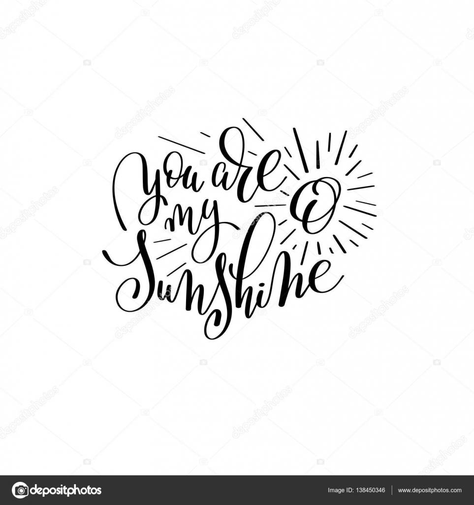 Jesteś Mój Cytat Słońce Odręczny Napis Grafika Wektorowa