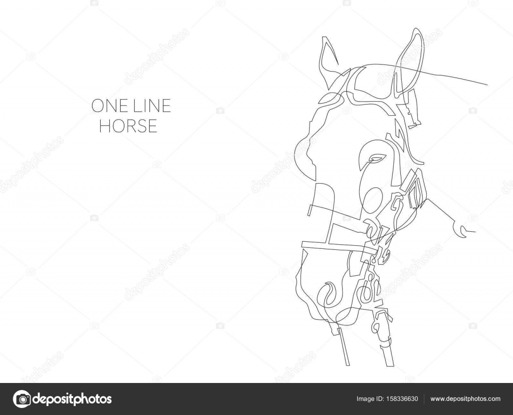 Single Line Text Art : Continuous one line horse drawing u stock vector karakotsya
