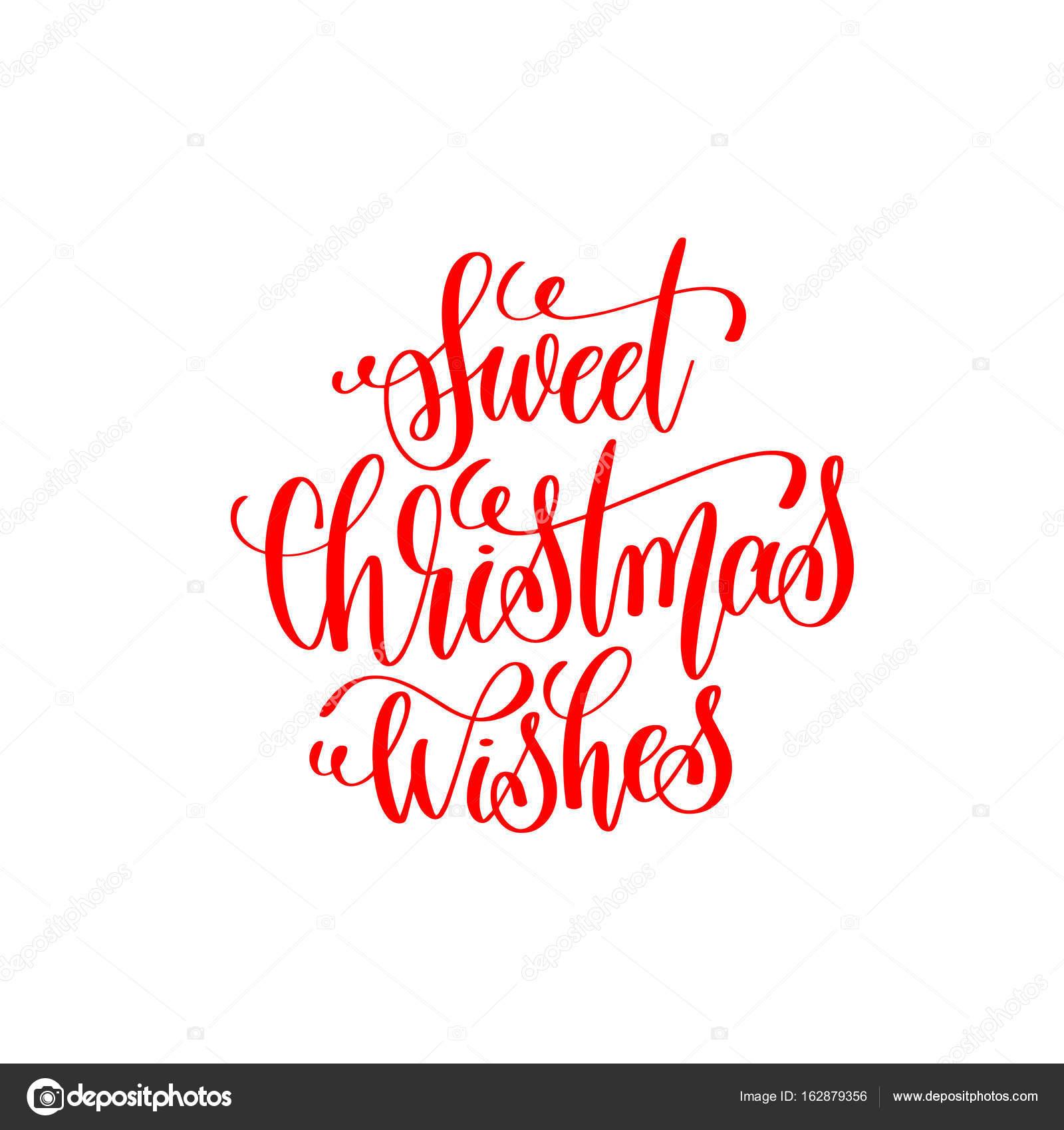 Süße Weihnachtswünsche.Süße Weihnachtswünsche Rote Hand Schriftzug Inschrift Zu Christm