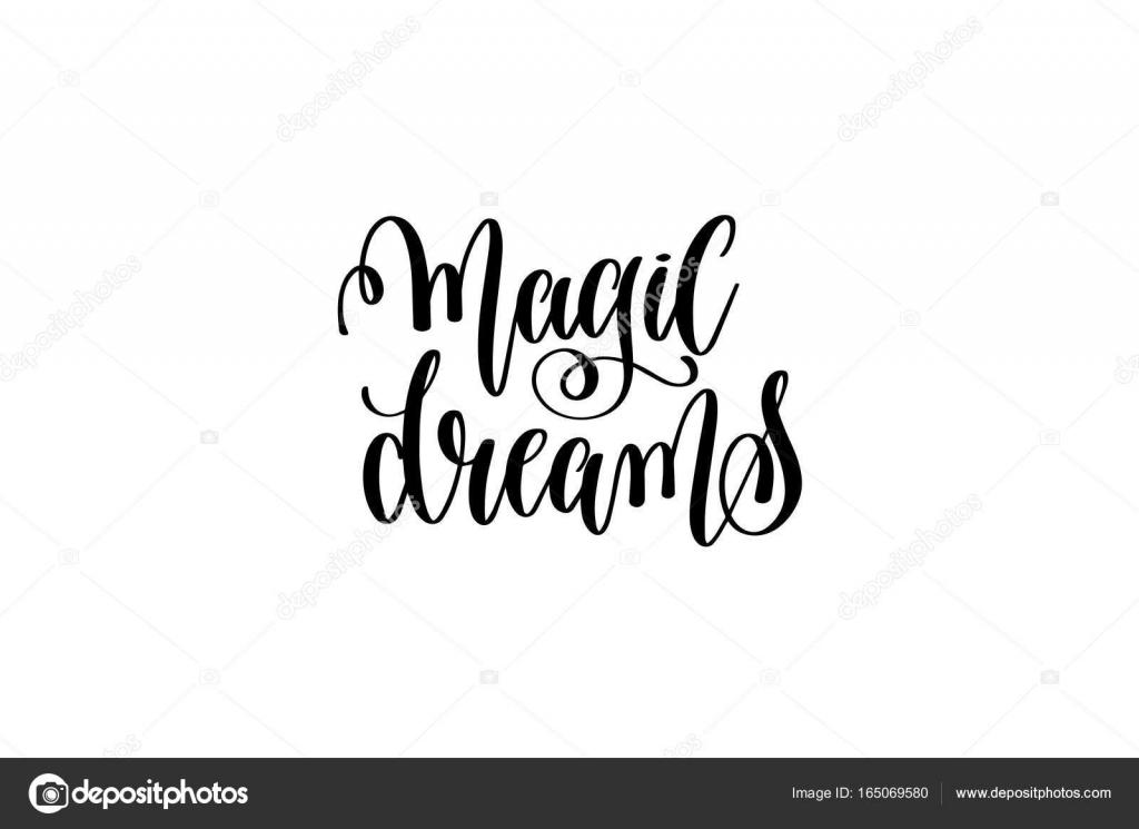 Citaten Over Dromen : Magische dromen zwart wit hand inscriptie positi