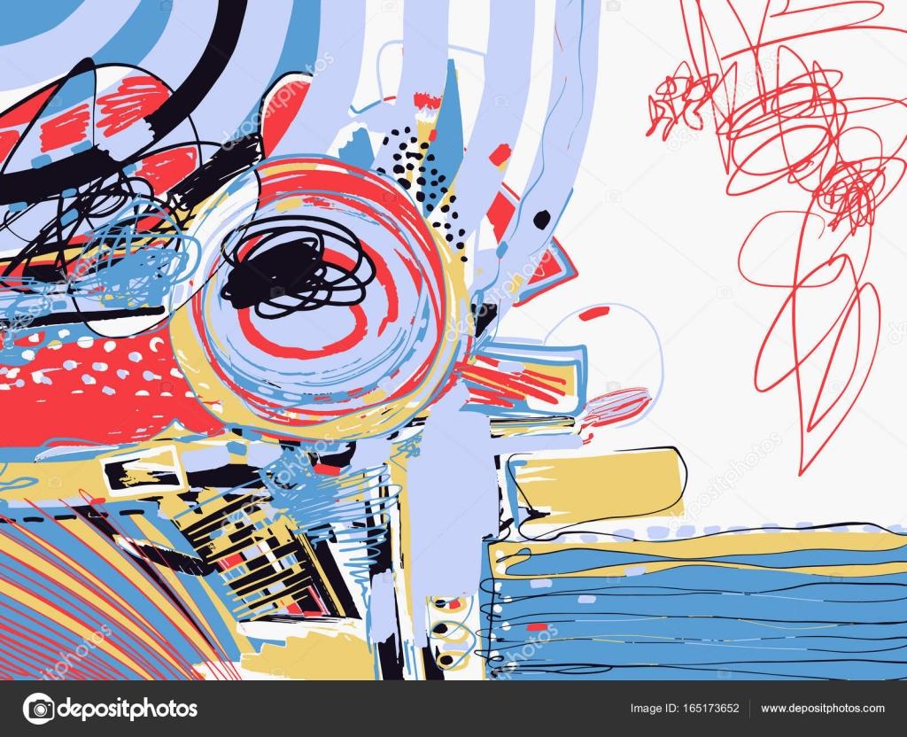 ursprüngliche digitale abstrakte Malerei, zeitgenössische Kunst ...