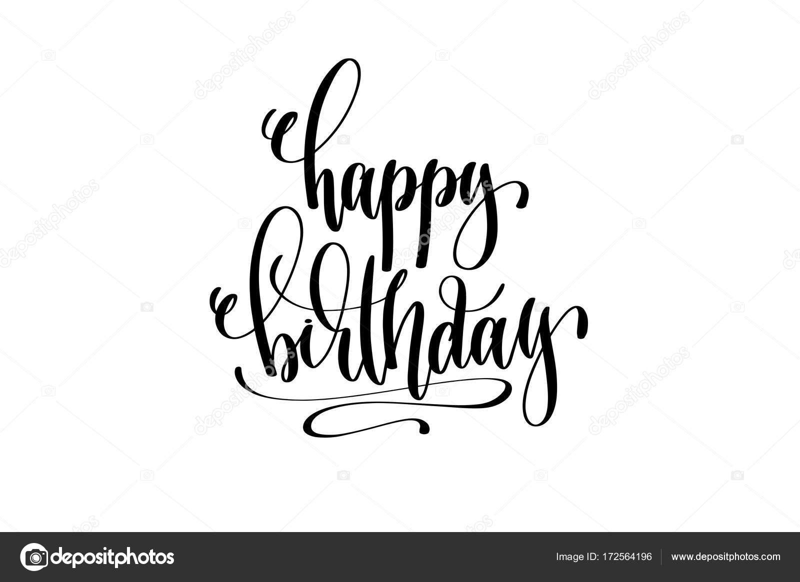 Alles Gute Zum Geburtstag Hand Schriftzug Veranstaltung Einladung