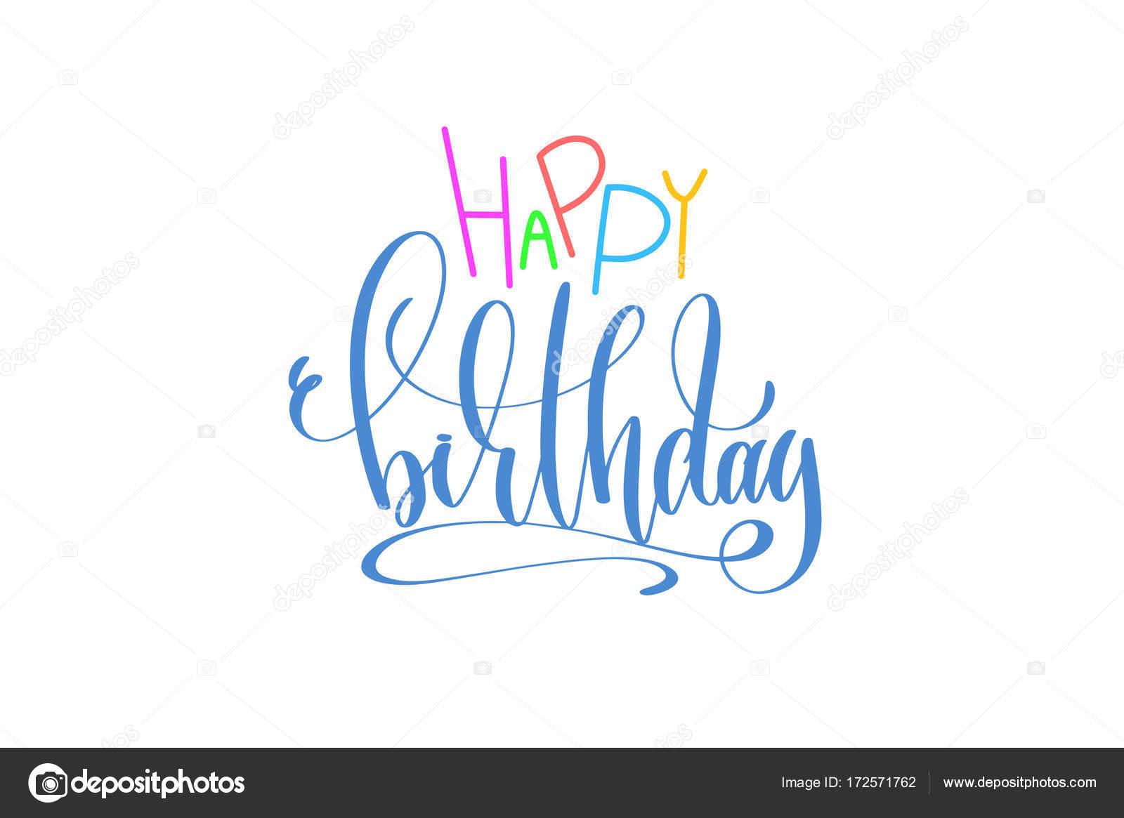 Alles Gute Zum Geburtstag Hand Schriftzug Poster Zum Urlaub Party