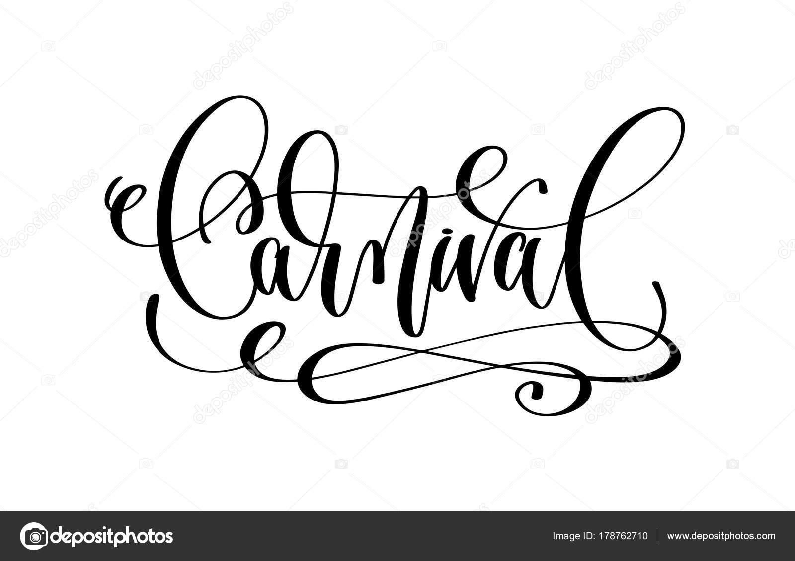 Fasching Karneval Urlaub Ubergeben Sie Schriftzug Inschrift Text