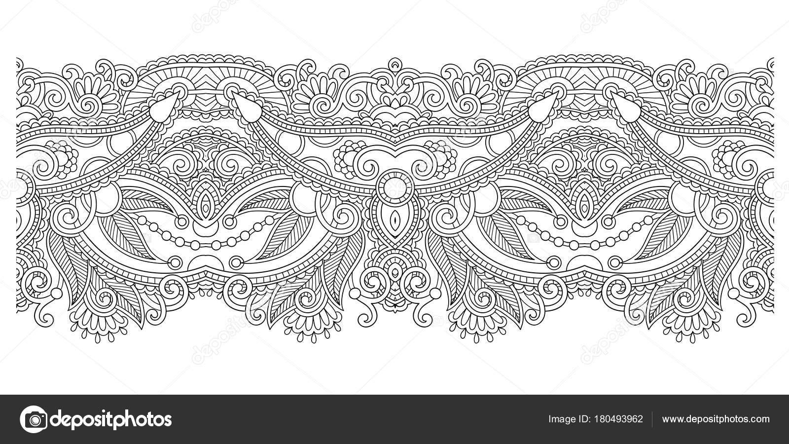 patrón decorativo raya étnica, diseño paisley indio — Vector de ...