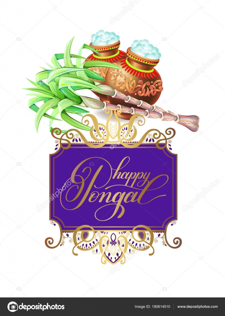 Happy pongal greeting card to south indian harvest festival stock happy pongal greeting card to south indian harvest festival stock vector m4hsunfo