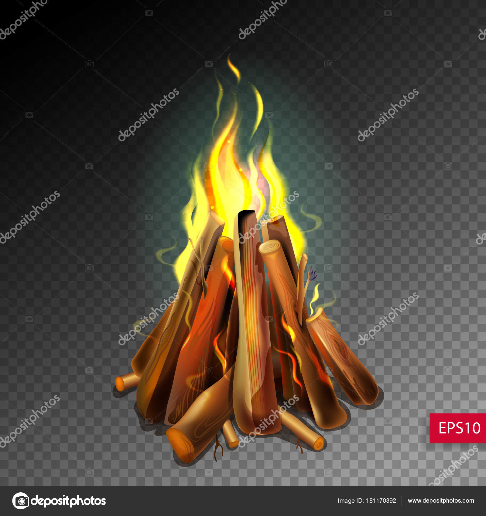 depositphotos 181170392 stock illustration realistic burning bonfire with wood Top Result 50 Inspirational Bond Fire Table Picture 2017 Iqt4
