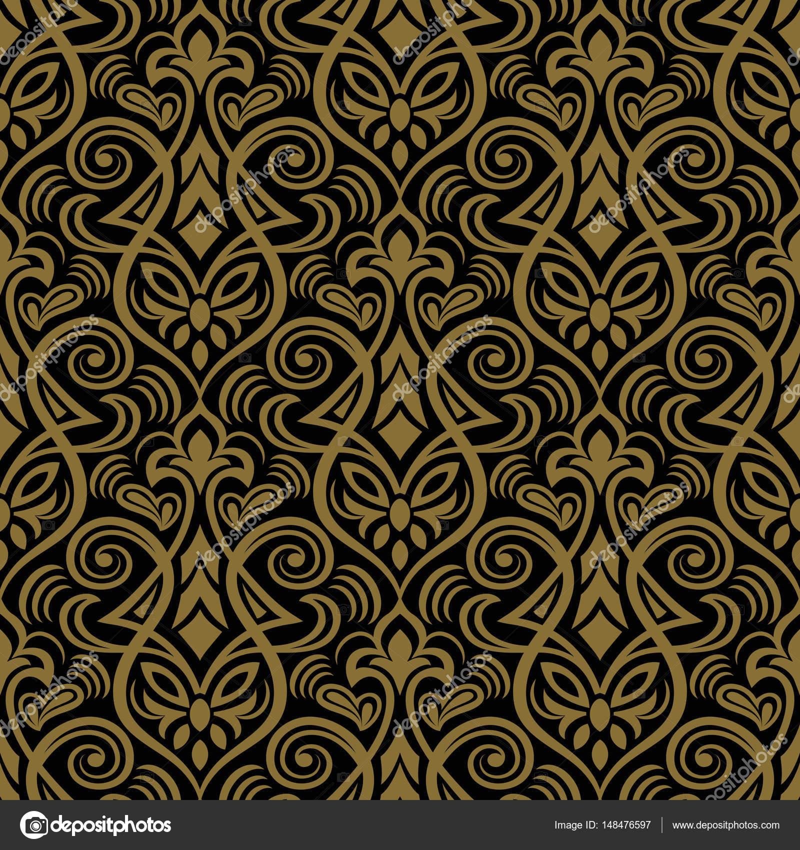 Elegant Damask Wallpaper Vintage Pattern Stock Vector
