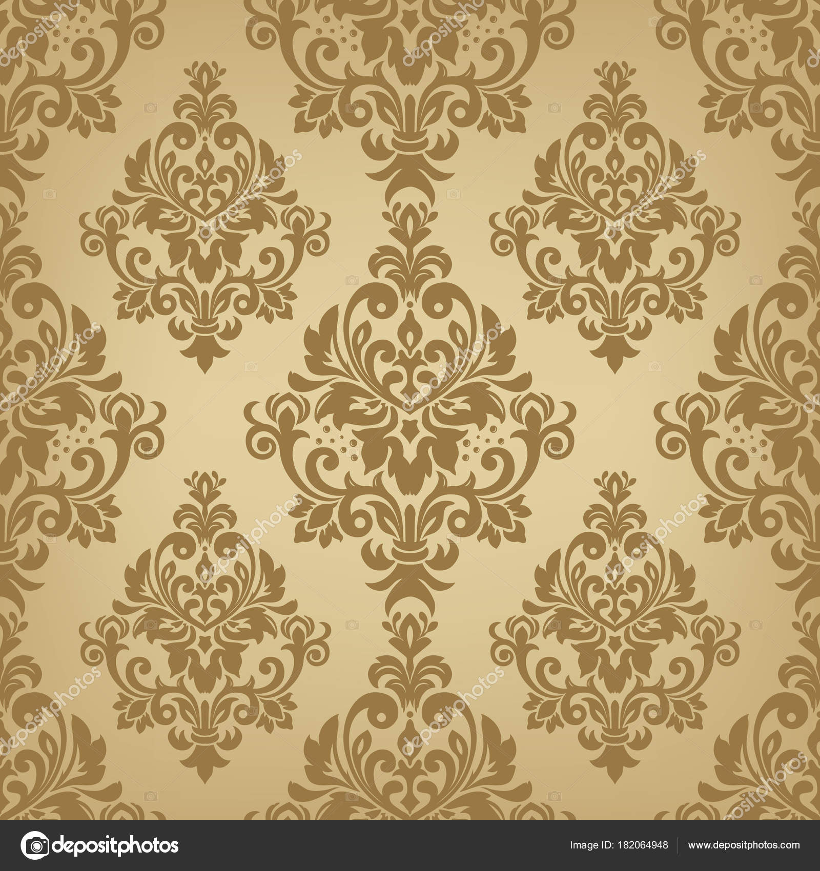 Gold Seamless Wallpaper Pattern Stock Vector Katia25