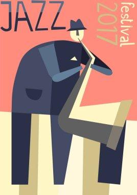 Vector Poster for jazz music festival or concert.