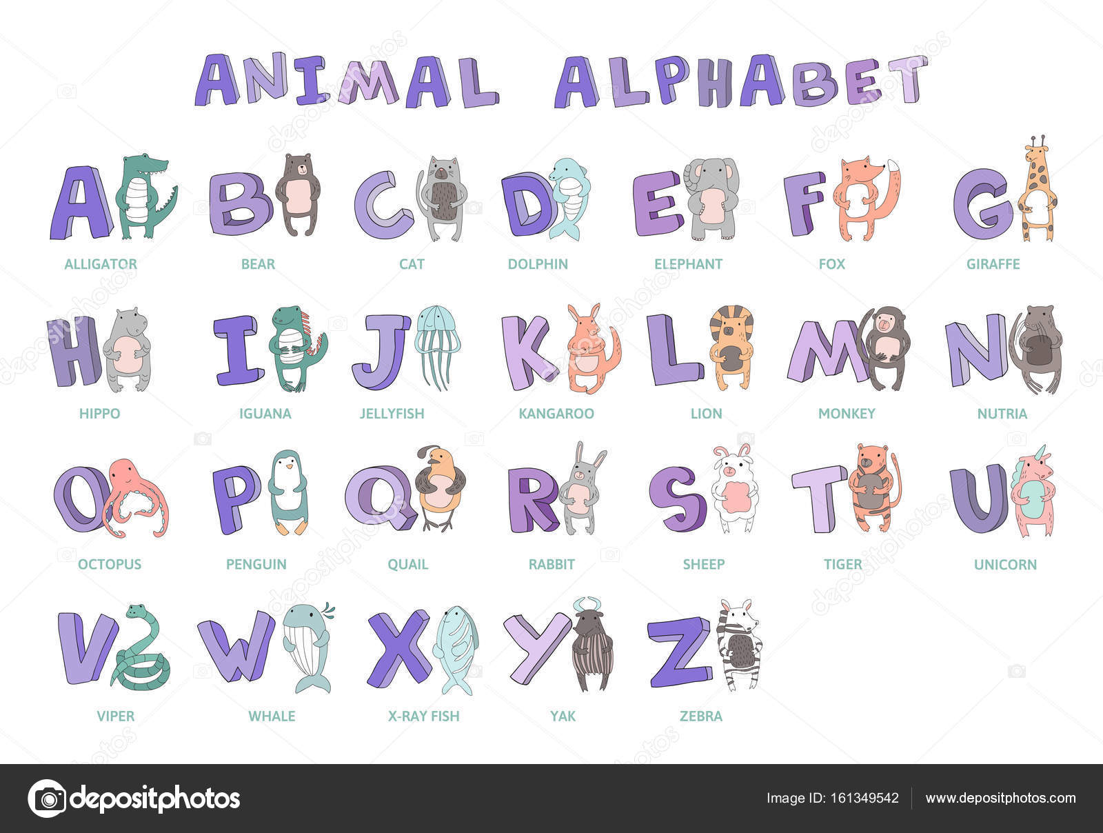 Hand drawn alphabet font letters doodle abc for kids with cute hand drawn alphabet font letters doodle abc for kids with cute animal thecheapjerseys Choice Image