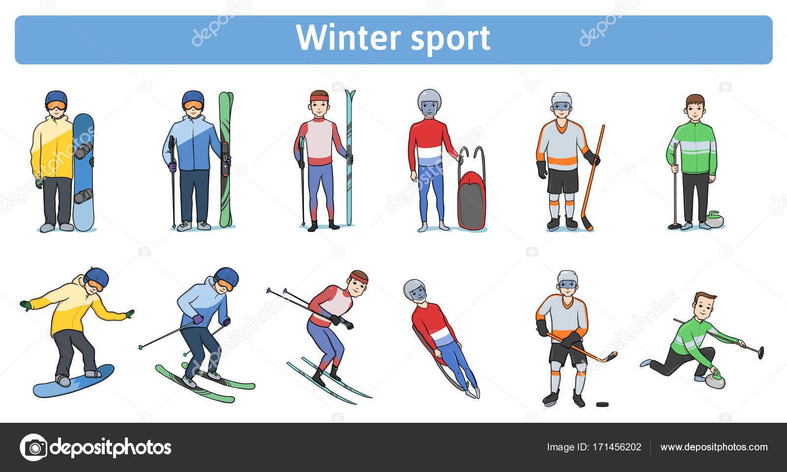 冬のスポーツ。冬戸外で。立って...