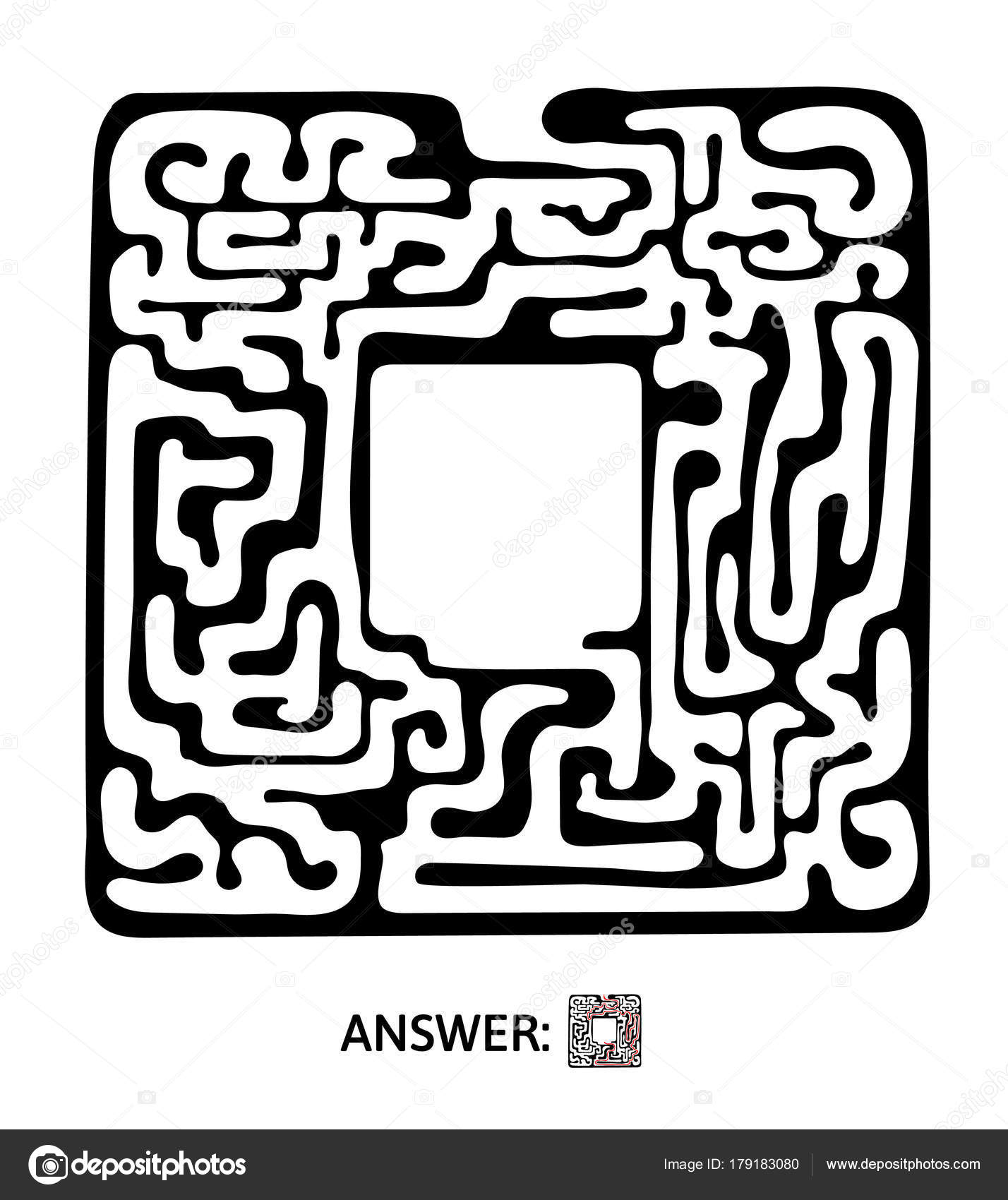 Childrens Maze Puzzle Game For Kids Vector Labyrinth Illustration