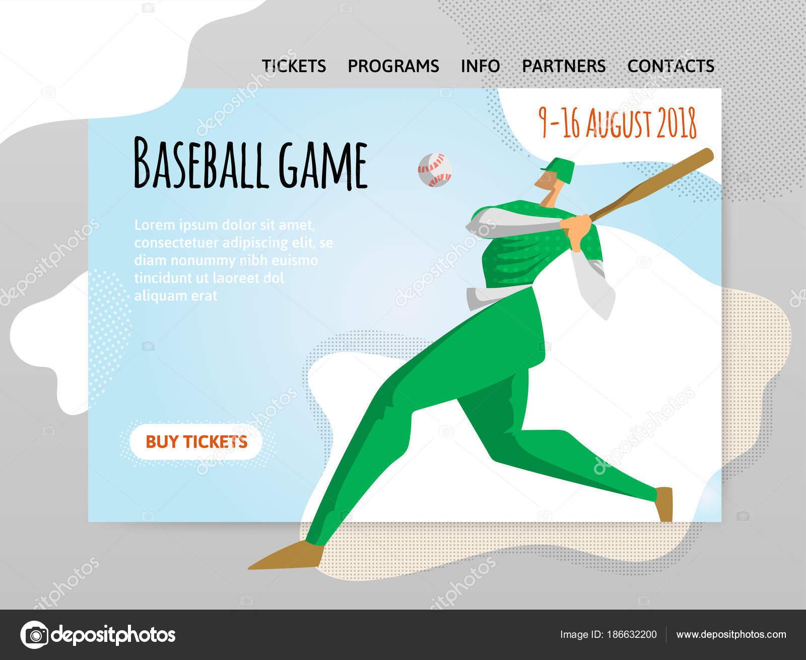 Baseball-Spieler mit Fledermaus. Vektor, Illutration, Design-Vorlage ...