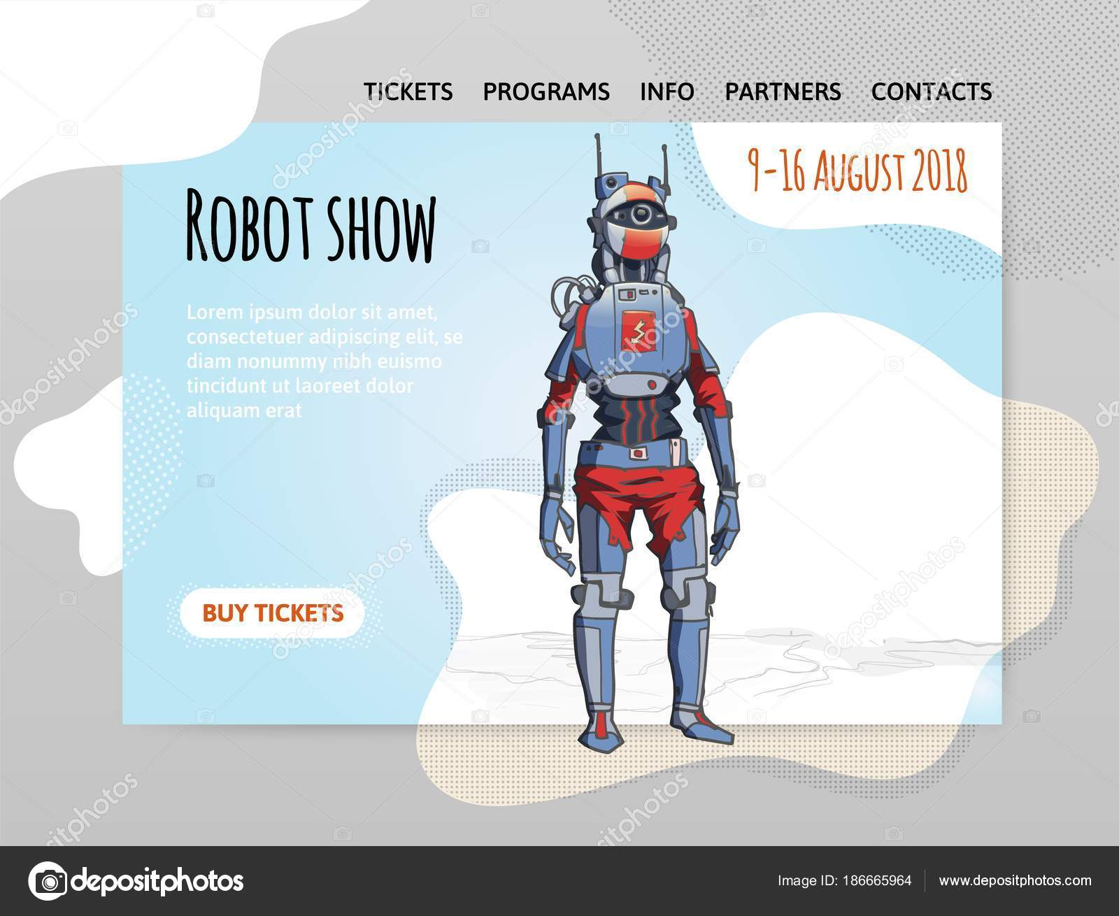 Humanoid robot, android with artificial intelligence  Robot show