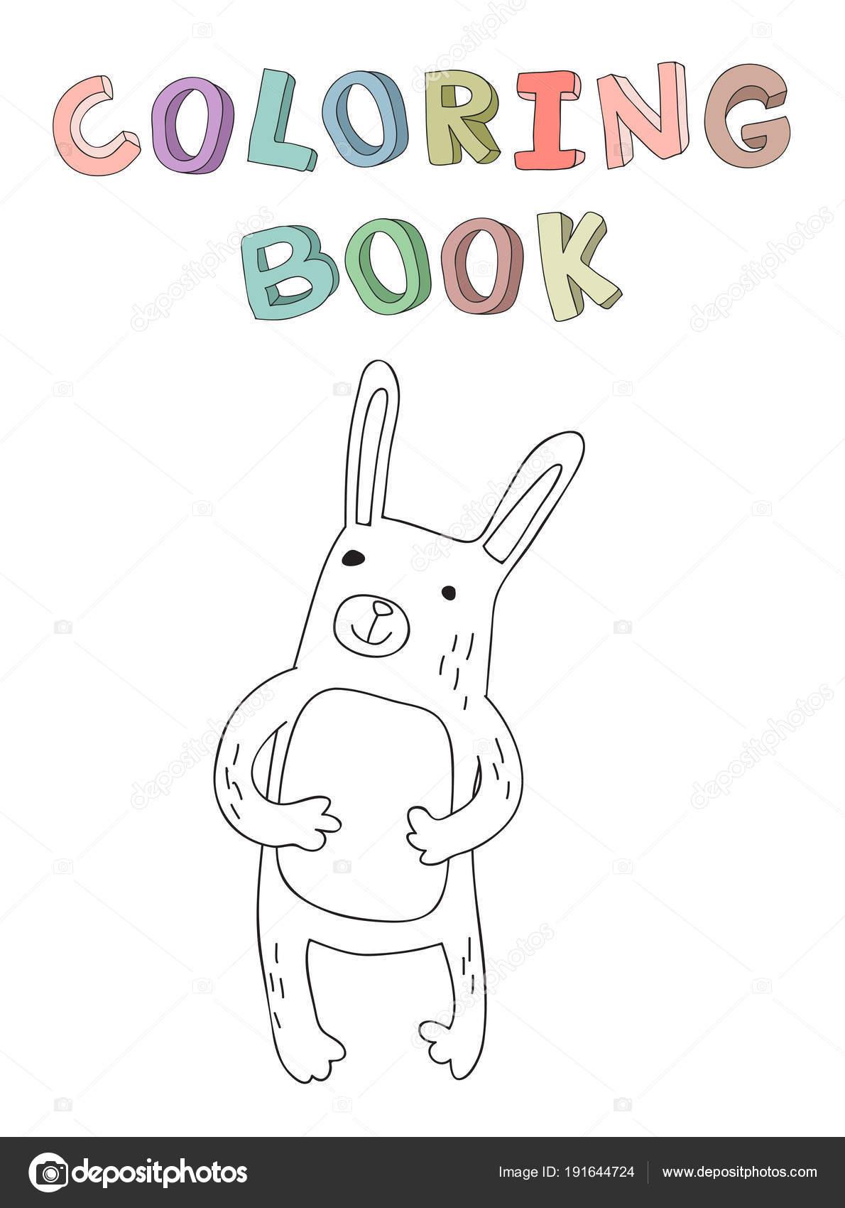 personagem de coelho de bonito desenho ilustração em vetor de