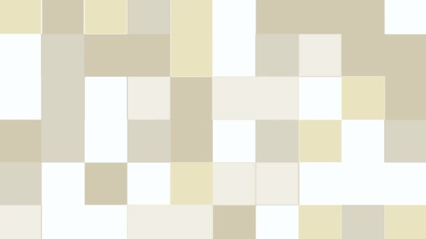 Abstract animation of gray and yellow block shapes moving on white background. Loop animated background, wallpaper.