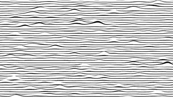 Fekete-fehér vonalak vízszintes mozgás háttér. Számítógép által generált hurok animáció.