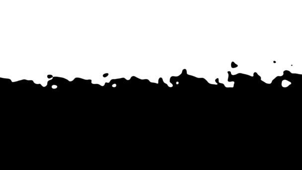 Absztrakt CGI mozgógrafika, animált háttér mozgó fekete-fehér alakzatokkal. CG mozgástervezési hurok.