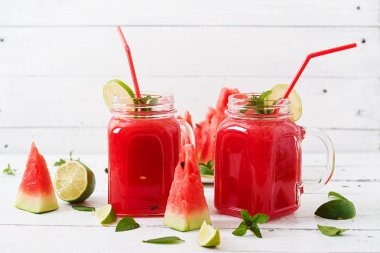 Fresh watermelon smoothies