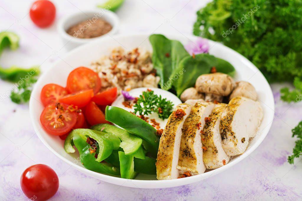 меню диета на куриной грудке и овощах