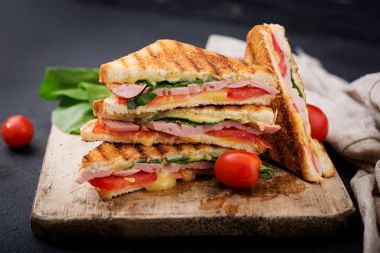 Club sandwiches panini