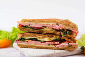 Club sandwich panini with ham