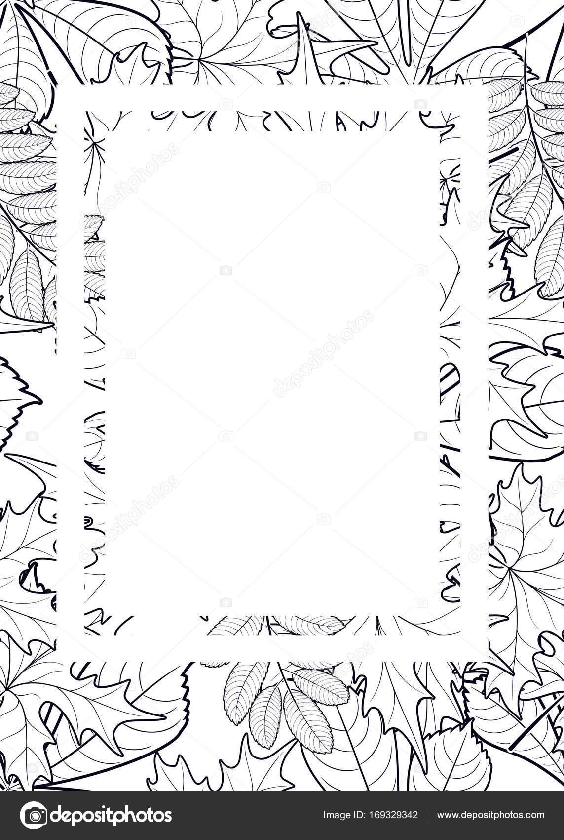 Vektor-Muster-Rahmen mit Herbst Blätter — Stockvektor © Olga_Kononok ...